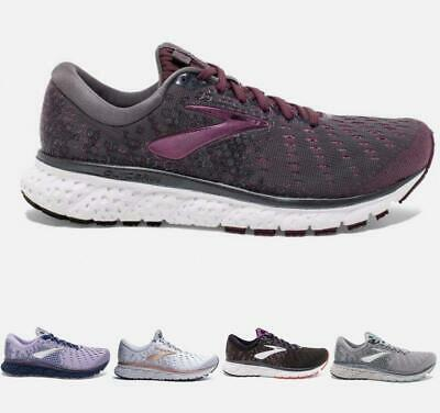 Women's Brooks Glycerin 17 Running Athletic Shoes Black Ebony Grey Purple White Colores De Lujo