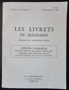 The-Booklets-the-Mandarin-No-No-5-6-of-1960-L-Epic-Camisarde-Marc-Stephane