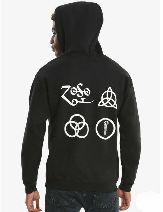 Led Zeppelin SYMBOLS rosso LOGO Pullover Hoodie NWT 100% 100% 100% autentico 573b15