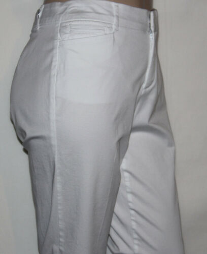 e2909fd13c9 3 of 7 NEW JM Collection Plus Size 22WP WHITE Twill Straight-Leg Trousers