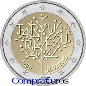 2-Euros-Conmemorativos-ESTONIA-2020-Tratado-de-Paz-de-Tartu-Sin-Circular