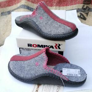 ROMIKA-MOKASSO-62-Gr-31-32-33-Kinder-Hausschuhe-Pantoffel-Wollfilz-Silber-NEU