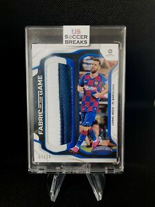 2019-20 Chronicles Soccer LIONEL MESSI Fabric Of The Game JERSEY PATCH 07/50