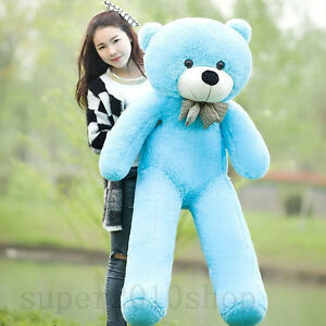 "47'' Giant Huge Big ""Blue""Teddy bear Plush Soft Stuffed Animal toys doll gift"