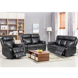 Loveseat-Chaise-Reclining-Couch-Recliner-Sofa-Chair-Leather-Accent-Chair-Set-SF