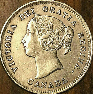 1888-CANADA-SILVER-5-CENT-COIN-Excellent-example
