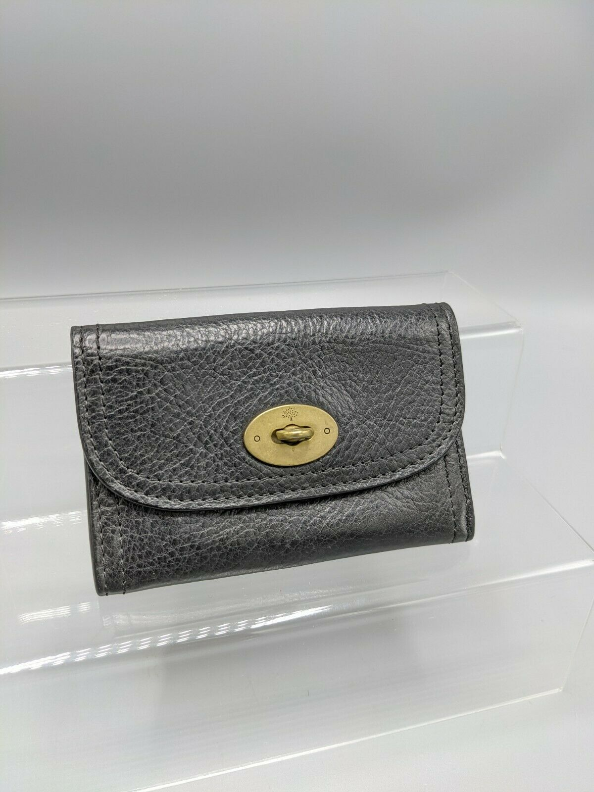 Mulberry Small Postman's Lock Wallet/Purse in Black Leather