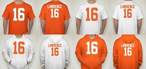 Clemson Tigers NATIONAL CHAMPIONS Trevor Lawrence  16 T Shirt Jersey ... 129cbeecc