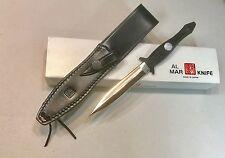 Vintage 1980' Al Mar Seki Japan Tactical Shadow  Dagger Knife Box Sheath Mint