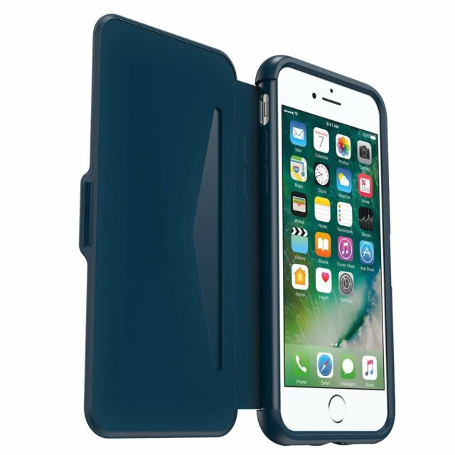 OtterBox Symmetry Etui Series Flip Case Cover for iPhone 7/6S - Blue NEW Wallet