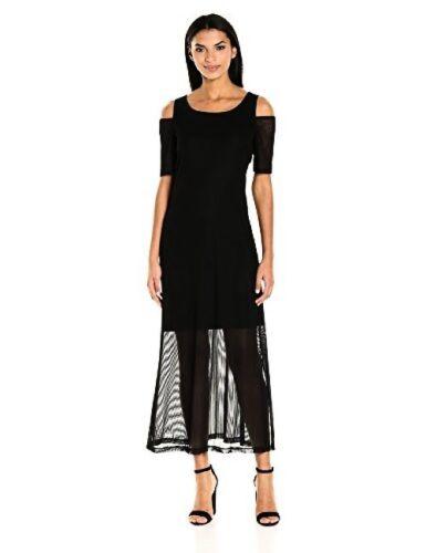 Select SZ//Color. Nine West Womens Dresses Illusion Cold Shoulder Maxi