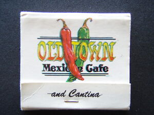 OLD TOWN MEXICAN CAFE AND CANTINA 2489 SAN DIEGO AVE CALIF 2974330 MATCHBOOK