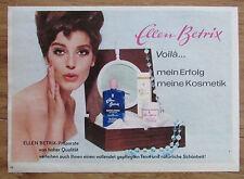 ELLEN BETRIX original Zeitungswerbung aus 1963 Werbung Reklame