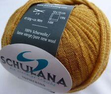 Topmerino von Schulana 50g Farbe 11 senfgelb  extrafeine Merinowolle L