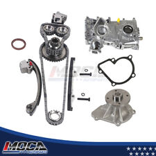 MOCA New Timing Chain Kit /& Timing Cover Oil Pump for 1991-1994 Nissan 240SX 2.4L L4 16V DOHC KA24DE