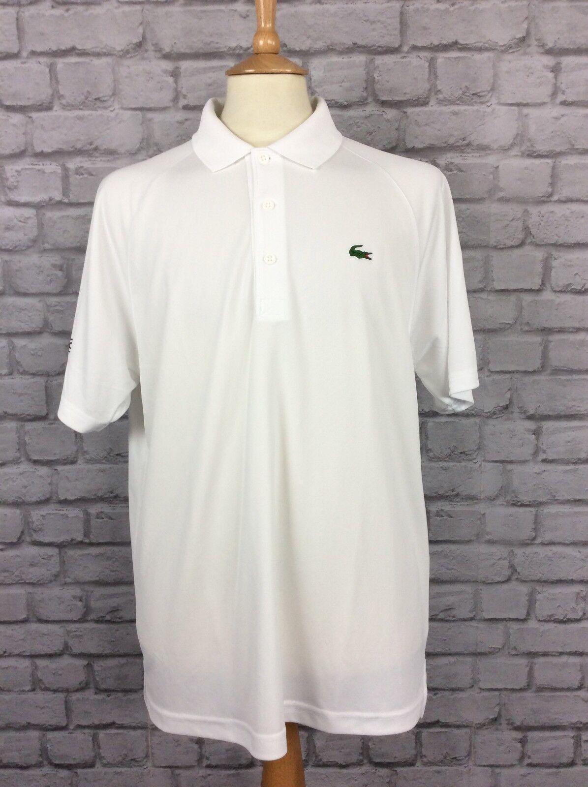 Sport Sec Blanc Lacoste Homme Manches Taille Xl À Shirt 6 Uk Ultra p1waZFwq