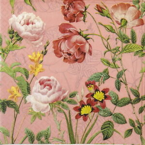 Papel 4x Servilletas Para Fiesta Decoupage Craft-Mademoiselle Rose