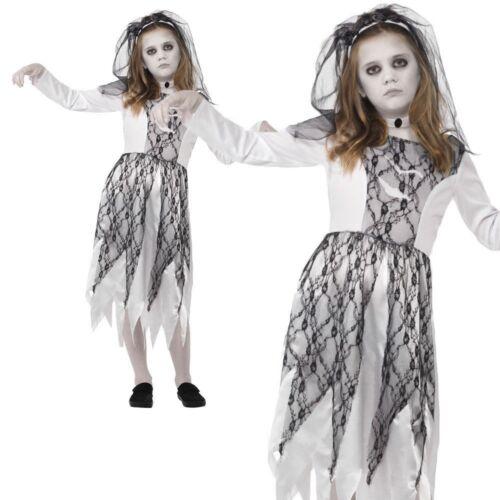 Enfant fantomatiques Cadavre Mariée Costume Halloween Fille Zombie Horreur Fancy Dress