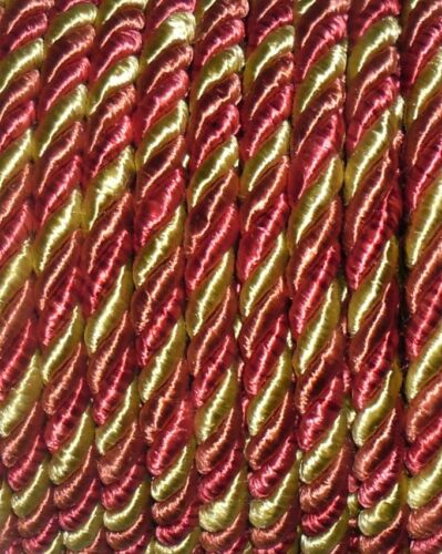 TOP QUALITY SILKY MULTI PIPING//EDGING ROPE 7MM X2 MTRS ART 7003 FREE P/&P