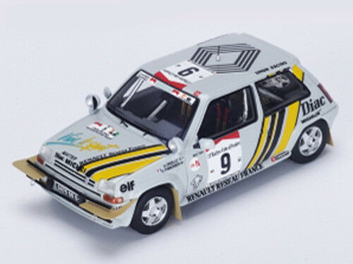 Spark Model Model Model 1 43 s3859 Renault 5 GT Turco  9 Winner Ivory Coast Rally 1989 NEW bb4a21