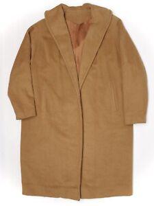 Rare-100-Vicuna-Womens-Coat-L-XL-Brown-Buttonless-Shawl-Collar-Wrap-Einiger-VTG