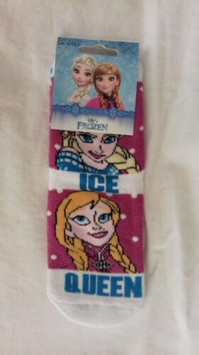 BNWT 1pr girls Disney Frozen slipper socks.sizes 6-8.5,9-11.5 or 12-1.5