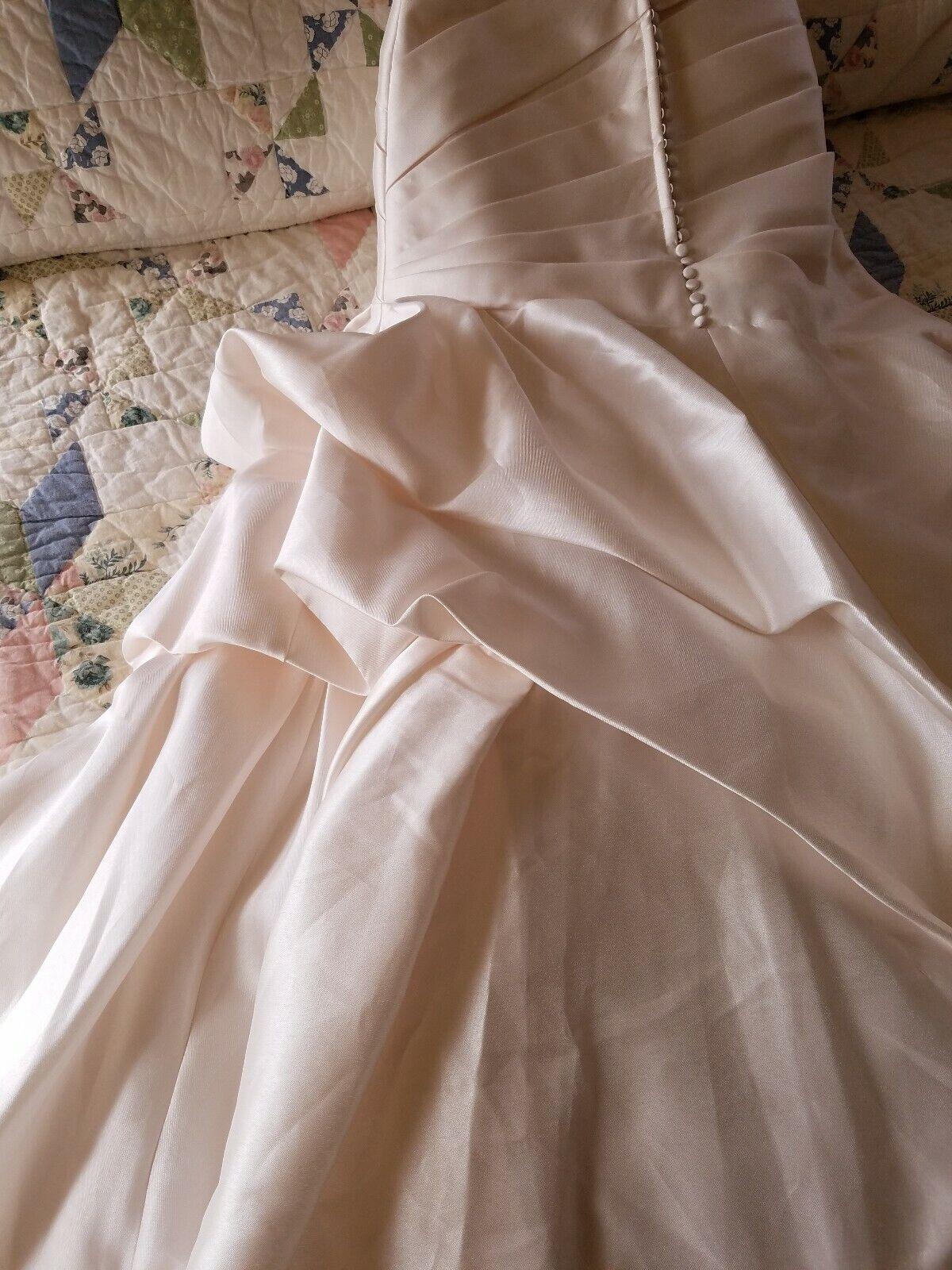 Jasmine Couture Ivory Wedding Dress Size 10 - image 7
