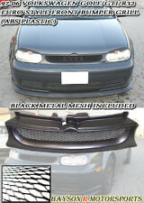 Euro Kamei Style Front Sport Mesh Grille (ABS) Fits VW Golf Mk4