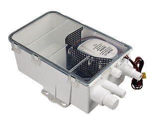 600GPH Shower sump system fully enclosed with multiple hose connections