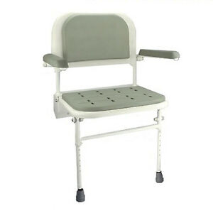 Image Is Loading Wall Mounted Folding Fold Down Shower Seat With