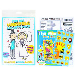 10 Childrens Wedding Activity Pack Favour Gift Party Bag Kids Packs