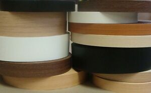 Iron on Pre-Glued Veneer Melamine Edging Tape 22mm FERRARA OAK