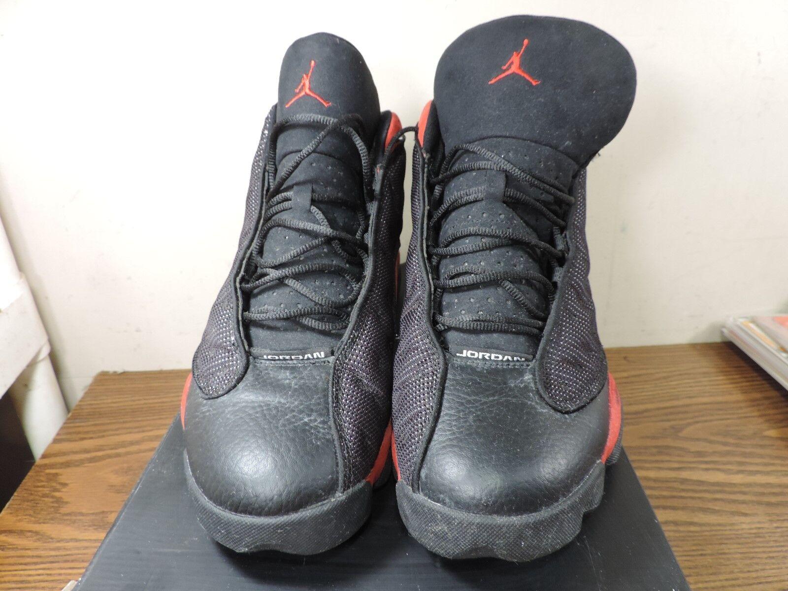 Air Jordan 13 'Bred' Retro Nike XIII Black Red 414571-010 Suede SZ 12