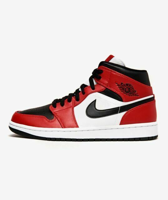 Nike Air Jordan 1 Mid Chicago Men Shoe, Size 11 - Black/Gym Red/White