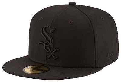 CHICAGO WHITE SOX Black on Black New Era 5950 Cap MLB Fitted Baseball Hat