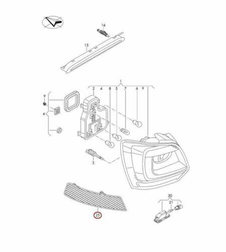 Nuevo VW Polo 15-17 GTI Genuino Parachoques Trasero Izquierda N//S Reflector 6C0945105A