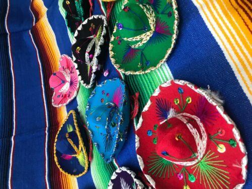 SET OF 12 MEXICAN MINI CHARRO HATS,PARTY FAVORS,DECORATIONS,SOMBRERO,MARIACHI