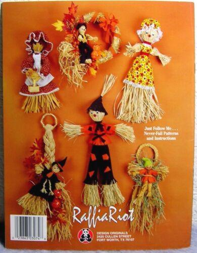 """Wreaths-Dolls-Decor /""""Raffia Riot/"""" by Kathy Lamancusa Rafia Straw Crafts"""