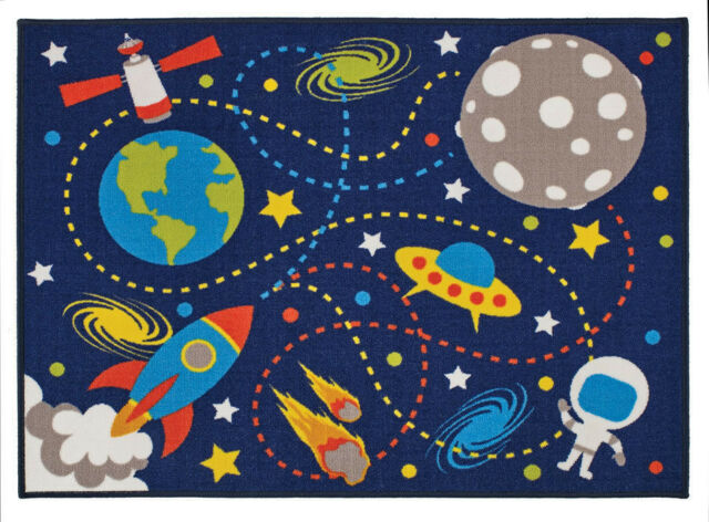 Space, Moon Mission Rug 100 x 130 cm