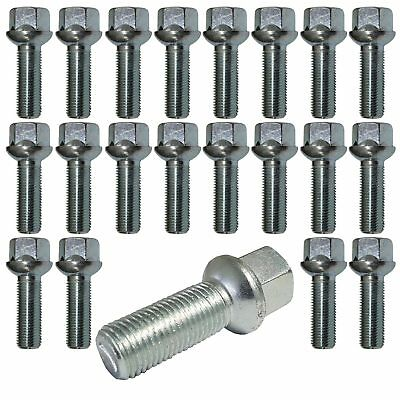 20 black Extended Wheel Bolts ball seat M14x1,5 35mm for Audi Mercedes-Benz .
