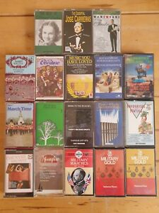 audio music cassette tapes bundle joblot x 18 as pictured mct28