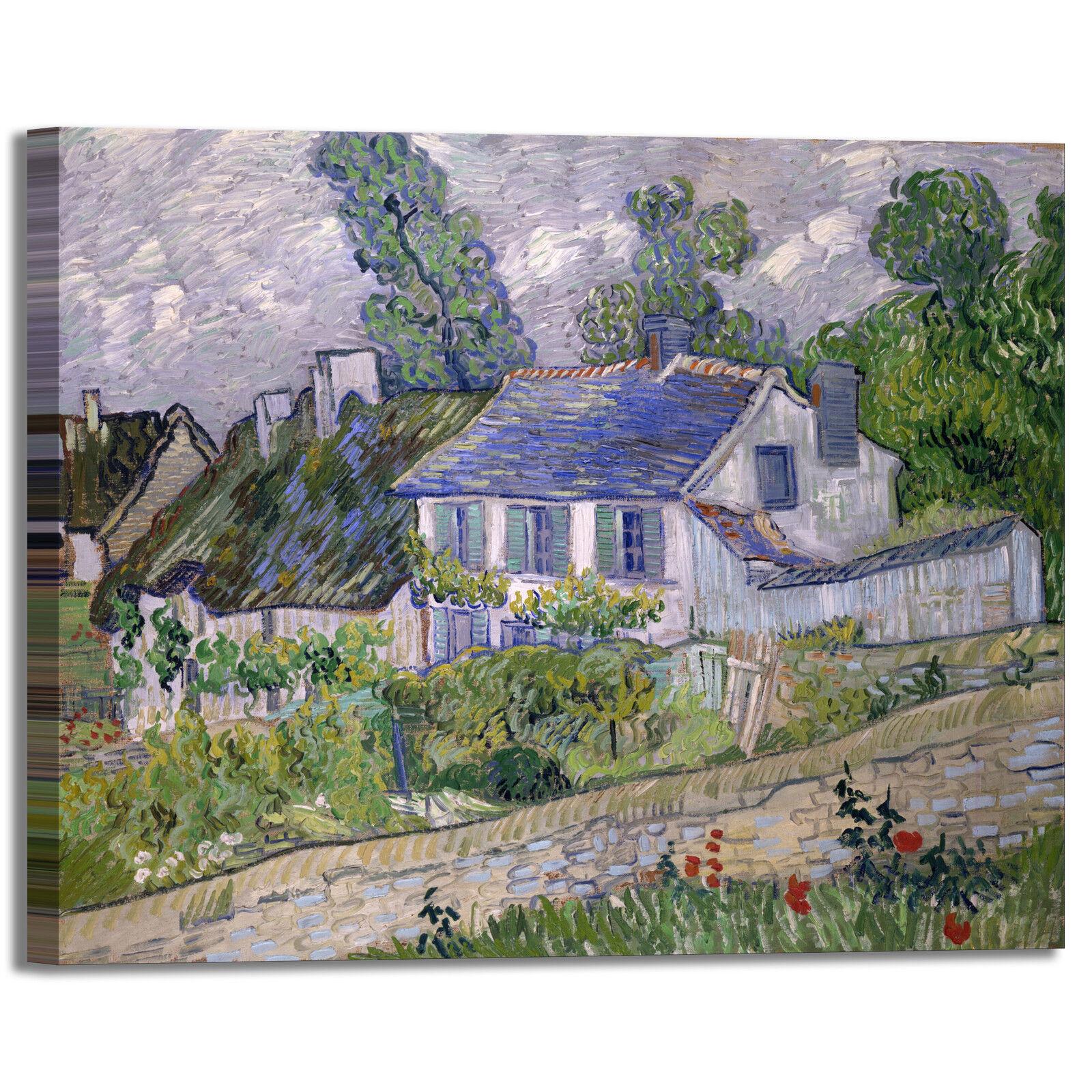 Van Gogh casa ad Anversa design quadro stampa tela dipinto telaio arroto casa