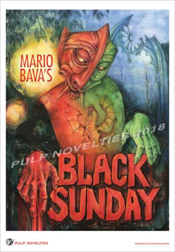 Black Sunday Limited Edition Poster Mario Bava Mask Of Satan Horror movie