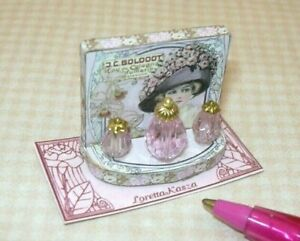 Dollhouse Miniature Sewing Display Tray #2 Handcrafted by Loretta Kasza