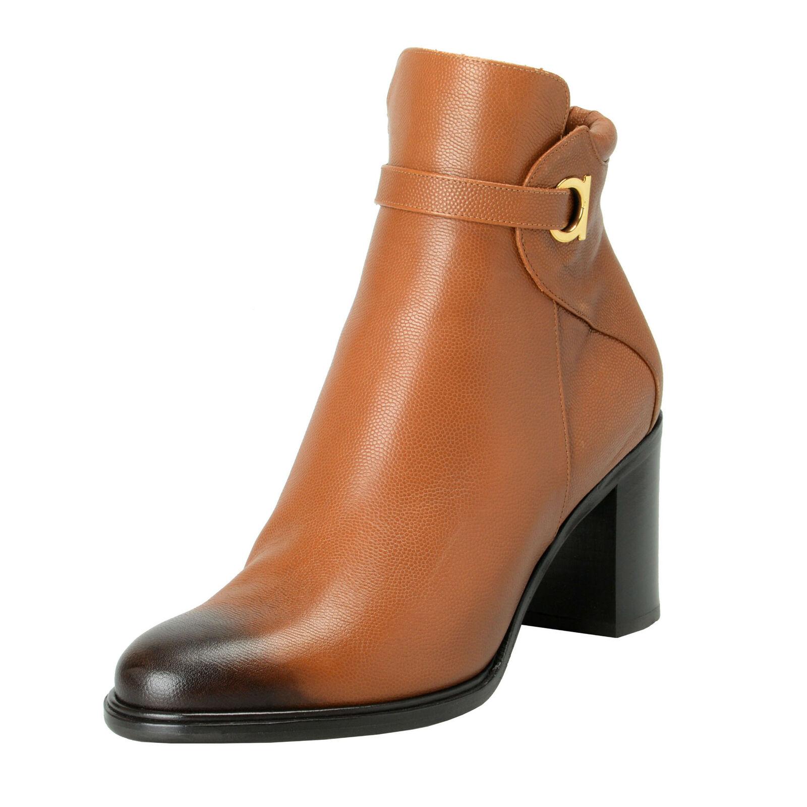 Salvatore Ferragamo Damen   Florian   Leder Stiefeletten Schuhe 7.5 8.5 10 11.5C