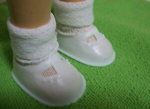 Fits-16-034-Toni-P-91-Ideal-Doll-Retro-White-Plastic-Mary-Jane-Doll-Shoes-D412