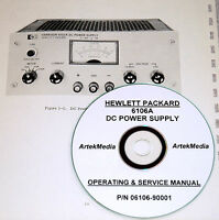 Hp Hewlett Packard 6106a Dc Power Supply Operating & Service Manual