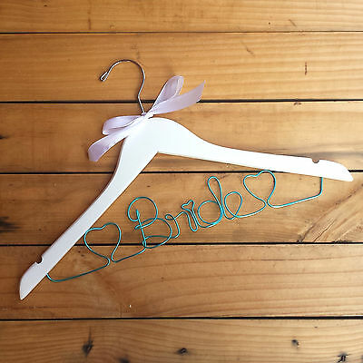 Personalised Custom Name Bride Wooden Wedding Dress Hanger Bridal Coat Hanger