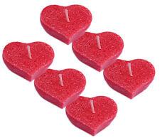6 x Schwimmkerzen in Herzform Herz Schwimmkerze aus 100 % pflanzlichem Stearin