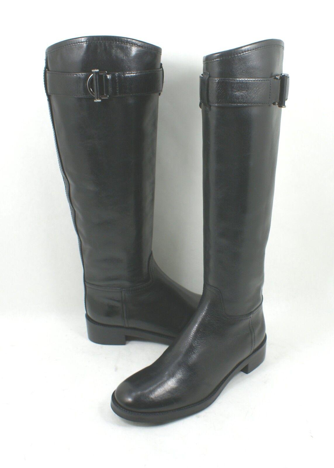 garanzia di credito Tory Tory Tory Burch  Grace  Dimensione 6.5 M nero Leather Knee High Riding stivali  produttori fornitura diretta
